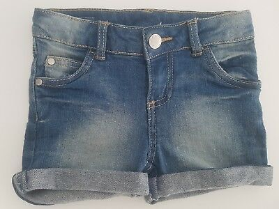 GIRLS DENIM SHORTS expandable waist FOX BARE COTTON TARGET - size 3