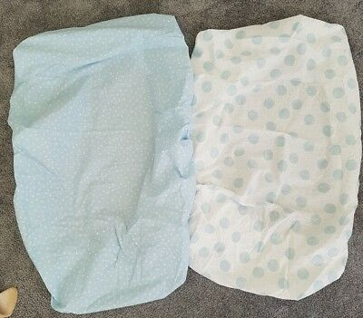 BASSINET FITTED SHEETS 2pk Dymples BABY NURSERY