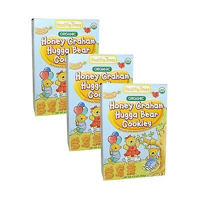 Healthy Times Organic Hugga Bear Cookies 190ml [3 Packs] (Graham Cracker)