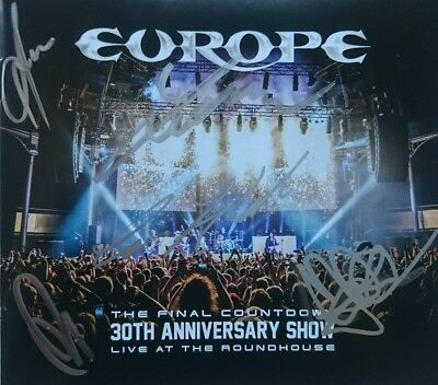 EUROPE ALL MEMBERS 30TH ANNIVERSARY SHOW LIVE SHIRT+DVD+2CD's SIGNED AUTOGRAPHED