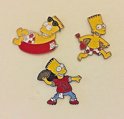 3 x BART SIMPSON PINS ~ THE SIMPSONS ...   ... 📮 I Combine Postage.