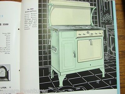 1934 QUALITY GAS Ranges Roberts & Mander STOVE Co ASBESTOS USE VTG Deco Catalog