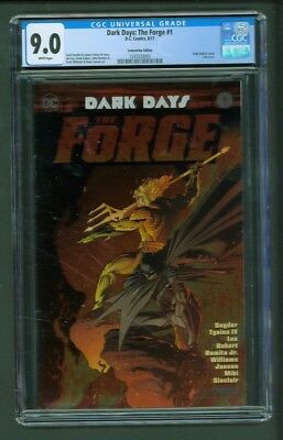 Dark Days The Forge 1 CGC 9.0 Convention Edition Super Rare Kubert Foil Cover
