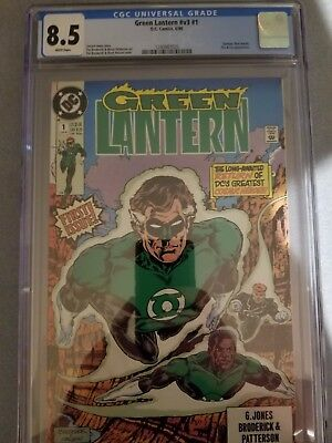 Green Lantern V3 #1 CGC 8.5 WP White Pages 1st Key Issue Rare HTF Fresh from CGC