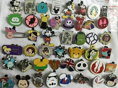 Disney Pins Trading 25 Pins No Duplicates Lapel Collector Lot Disneyland limited