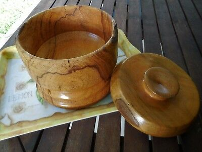 Hand Turned Banksia Wood Bowl With Lid