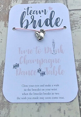 Hen Party, Wedding, Favour, Gifts, Team Bride, Bride Tribe, Wish Bracelet.