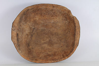 Antique Primitive Hand Carved Wooden Dough Bowl Trough Noshtva.