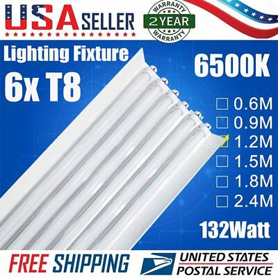 NEW 6 Bulb / Lamp T8 LED High Bay Warehouse, Shop, Commercial Light Fixture EX