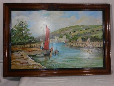 Fine Art Large Oil Painting on board Signed lower right