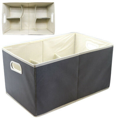 12 x LARGE Non Woven Storage Box Bin Containers Drawers Basket Cube Tote Tub fdd