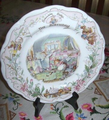 """Lovely Royal Doulton Brambly Hedge - Collectors Plate - """"The Birthday"""""""