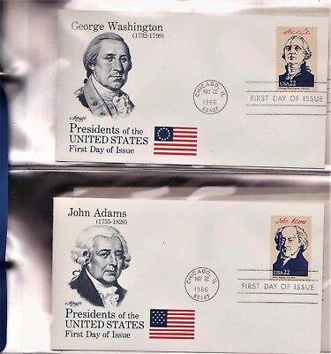 Collection Fleetwood First Day Cover Album of Presidents of the United States