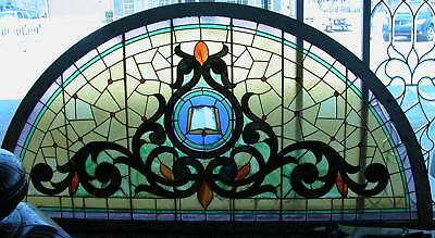 Giant Arched Top Victorian Stained Glass Window Architectural Salvage