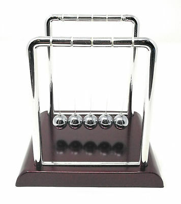 Perpetual Motion Toy Newton'S Cradle Physics Steel Ball Kinetic Office Desk Red