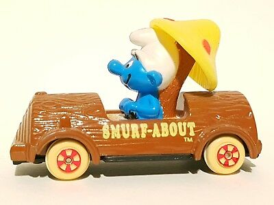 Ertl Baumstammauto 1982 Schlumpf Schlümpfe Smurf Collection