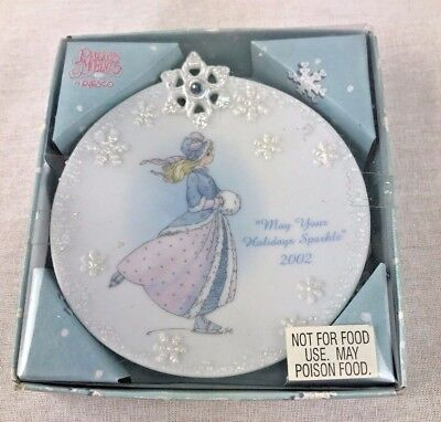 """Precious Moments by Enesco """"May Your Holidays Sparkle"""" PLATE #104048"""