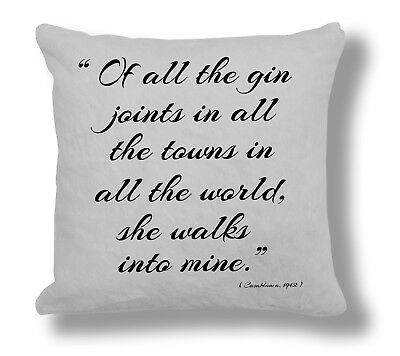 FQ063 The Wizard of Oz 1939 Film Quote /'No Place/' Pillow Cushion Cover Gift