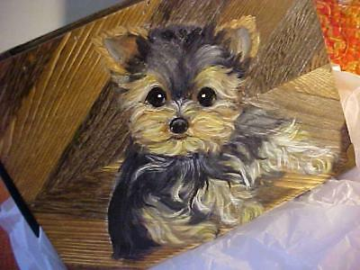 Yorkie Hand Painted Box Request!