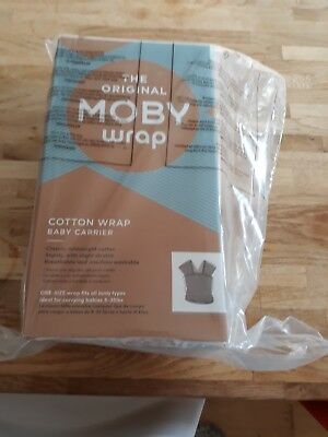 Moby baby wrap slate grey new