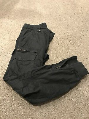 Mans Black Industrie Cargo Chino Pants