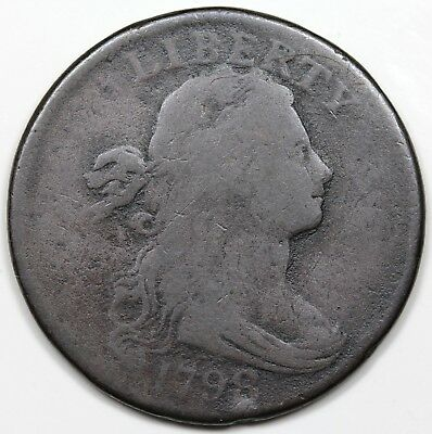 1798 Draped Bust Large Cent, Style 1 Hair, VG detail