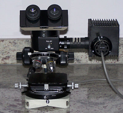 Olympus Bh-Mj Microscope For Metallurgical And Surface Analysis