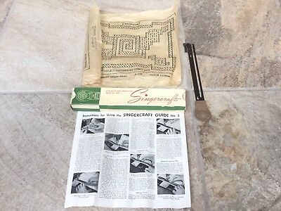 Vintage Singercraft Guide No. 2 121079 Singer Sewing Box Pattern Instructions