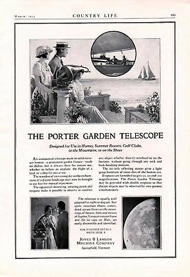 1924 Porter Garden Telescope Jones Lamson Astronomy Moon Star Mountain 6267
