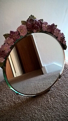 Vintage Art Deco Bevel Edge Barbola Dressing Table Mirror Easel type stand
