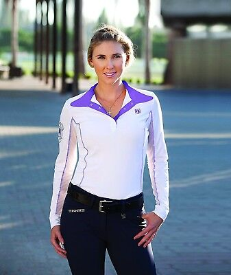 (Medium, Amethyst) - Romfh Ladies Competitor LS Show Shirt. Delivery is Free