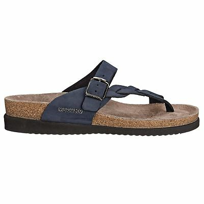 c12dd9b064f3 Mephisto Helen Twist Navy Womens Nubuck Thong Toe-post Slip on Comfort  Sandals