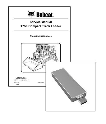 Bobcat T750 Compact Track Loader Workshop Repair Service Manual on New USB Stick