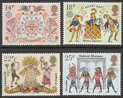 SG1143-1146 1981 FOLKLORE Unmounted Mint GB