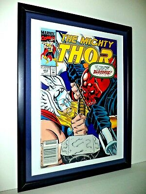 THE MIGHTY THOR Comic # 452 Vol 1 Oct 1992 MARVEL MOUNTED FRAMED READY TO HANG