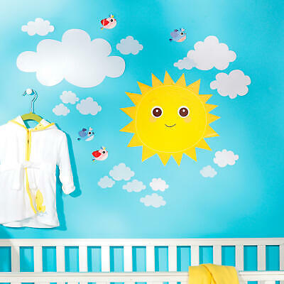 Wallies Baby Sunshine Vinyl Decals - décor for baby and child nursery room