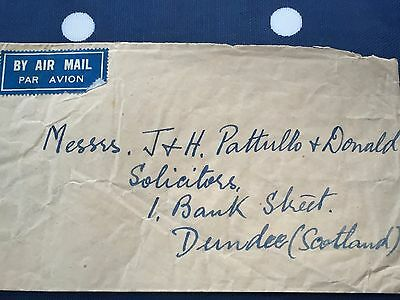 Burma letter to Dundee with all stamps at back nice and tdy cover