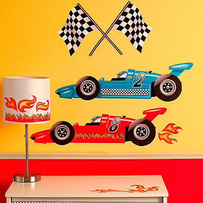 Wallies Grand Prix Racing Decals - décor for baby and child nursery room