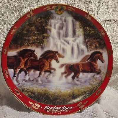 Budweiser Clydesdale Horses Collector Plate Pride of Budweiser LTD EDITION 2000