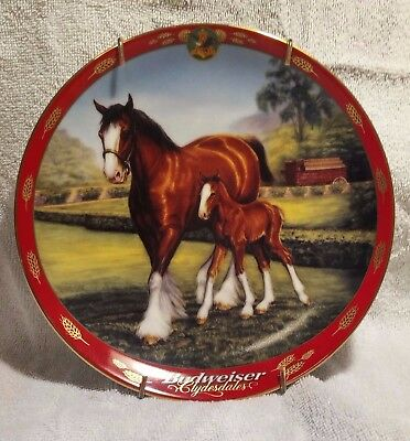 Budweiser Clydesdale Horses Collector Plate Pride of Budweiser LTD EDITION 1999