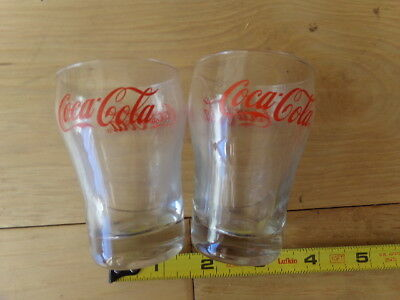 Vintage Coca Cola Drinking Glasses -Jr. sized. X-2
