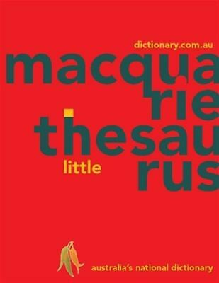 Macquarie Little Thesaurus (PVC) by Macquarie Dictionary - Paperback - NEW