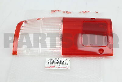 8155135130 Genuine Toyota LENS, REAR COMBINATION LAMP, RH 81551-35130