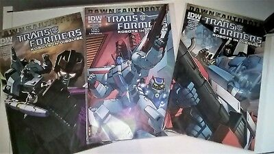 Mint Robots in Disguise Dawn of the Autobots LOT Bundle 3x Comics Variant Covers