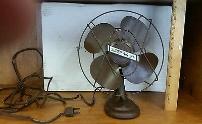 "$Rare$ Metal Blade Desk Fan ""super Air Jr"" Fan Collector"
