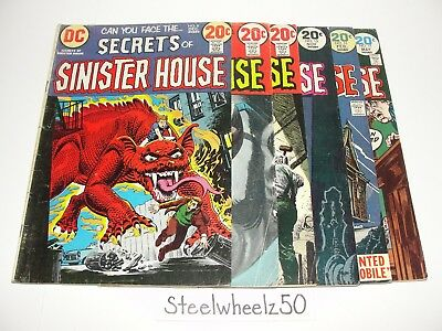 Secrets Of Sinister House 6 Comic Lot DC 1972 #8 9 12 15 16 17 Bronze Horror HTF
