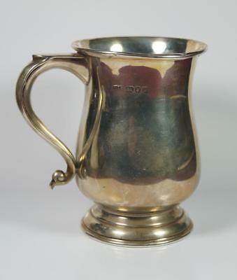 Hallmarked Solid Silver Half Pint Tankard London 1965 S J Rose & Son 131.6g