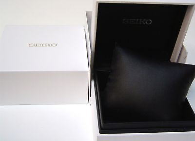 Genuine SEIKO Deluxe Watch box Gents Ladies Cushioned Faux Leather inner NEW