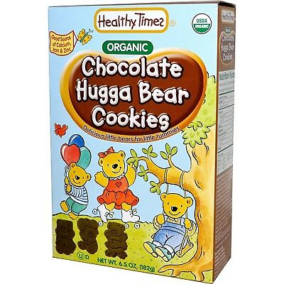 Healthy Times, Organic Hugga Bear Cookies, Chocolate, 190ml (182 g) - 2pc