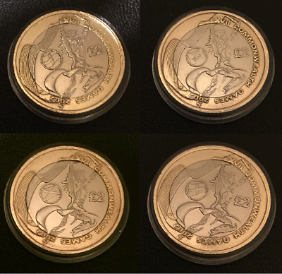 2002 Commonwealth Games North Ireland England Wales Scotland, £2 Coins Rare